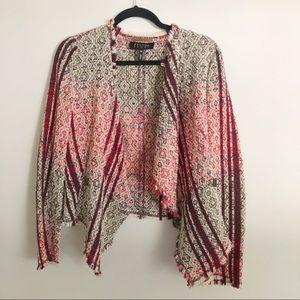 Escada Sport wool blend wrap front red sweater